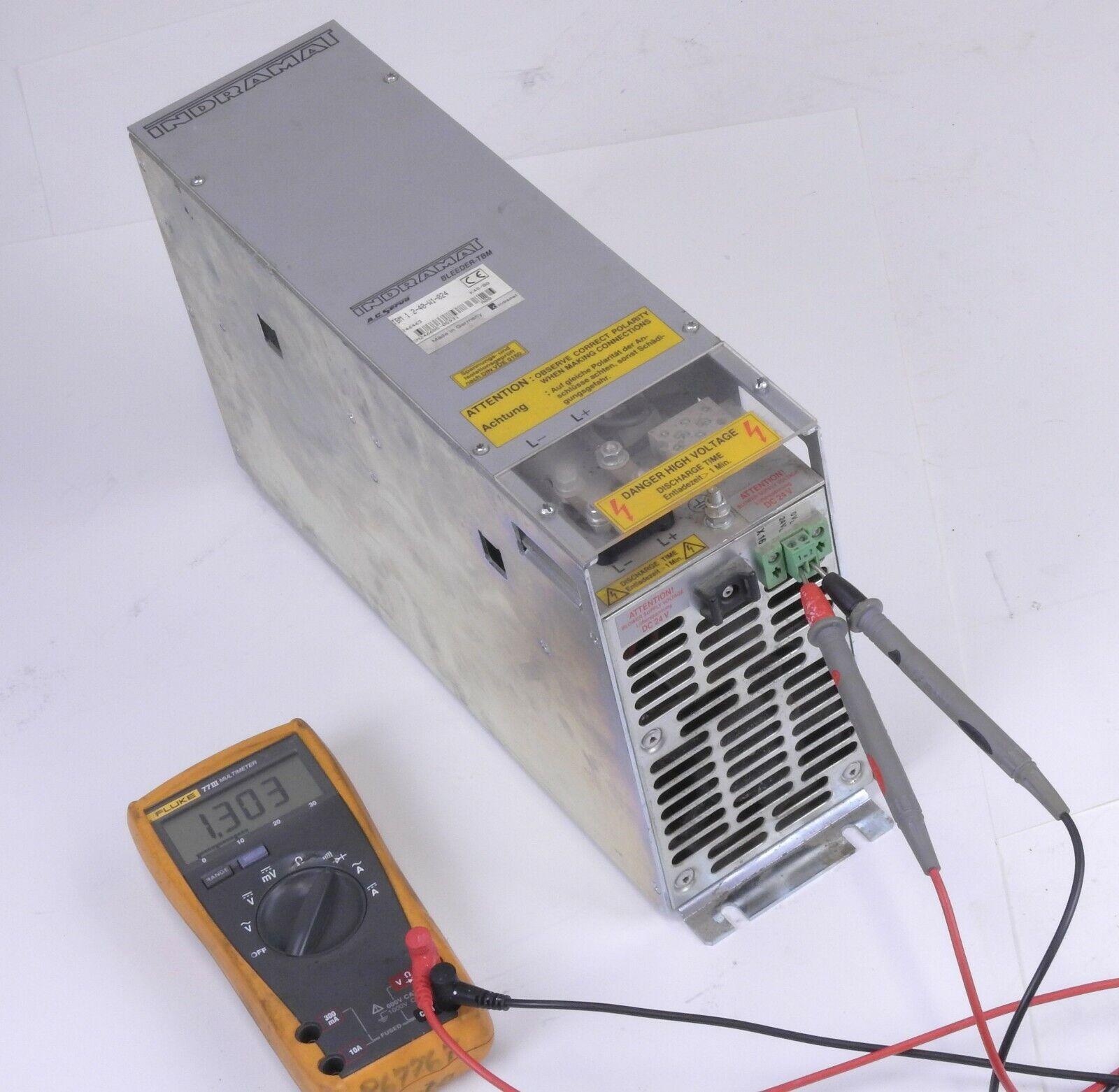 INDRAMAT TBM 1.2-40-W1-024 AC SERVO BLEEDER