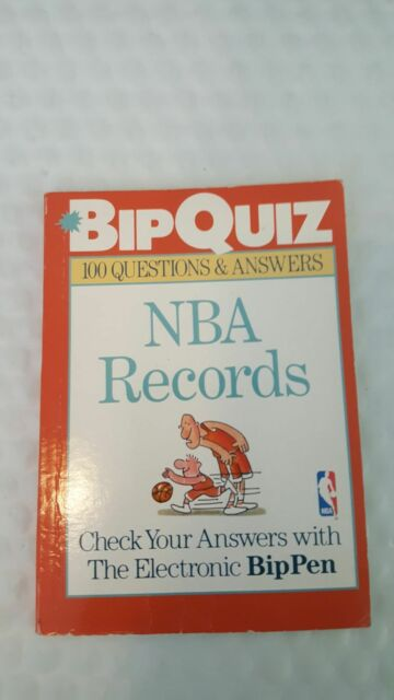 BipQuiz NBA: BipQuiz : NBA Records by Sterling Publishing Company Staff (1996, P