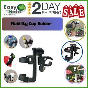 Ess-Cup-Holder-Wheelchair-Baby-Stroller-Universal-Pushchair-Black-360-Degrees