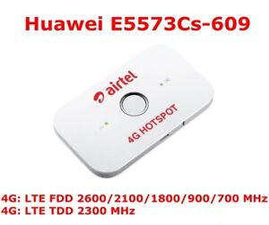 Details about HUAWEI E5573cs-609 LTE FDD 150Mbps 4G Pocket WiFi Router  Mobile Hotspot Unlocked