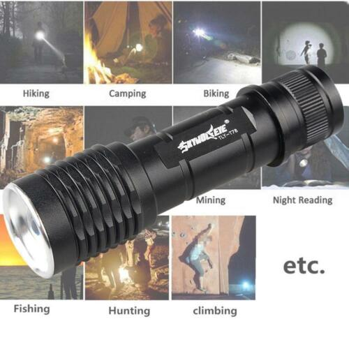 20000LM 5 Modes T6 LED 18650 Flashlight Torch Lamp Light Outdoor BE