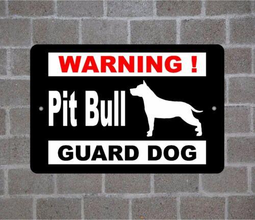 Pit Bull warning GUARD DOG breed metal aluminum sign #A