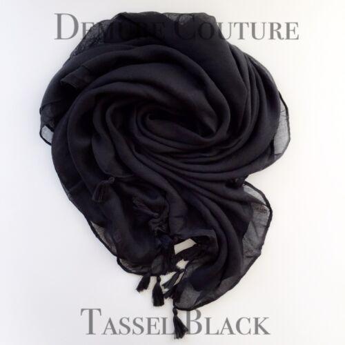 Tassel Hijab Scarf Maxi Large Shawl Cape Sarong Wrap