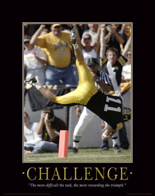 Iowa Hawkeyes Football Motivational Poster Kinnick Stadium Chad Greenway MVP68