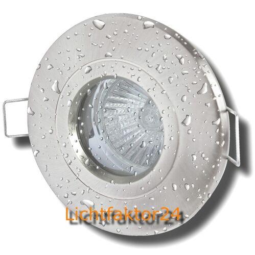 Dusche Nassraum Halogen Bad Einbaustrahler Aqua44 230V Leuchten fürs Bad Sets