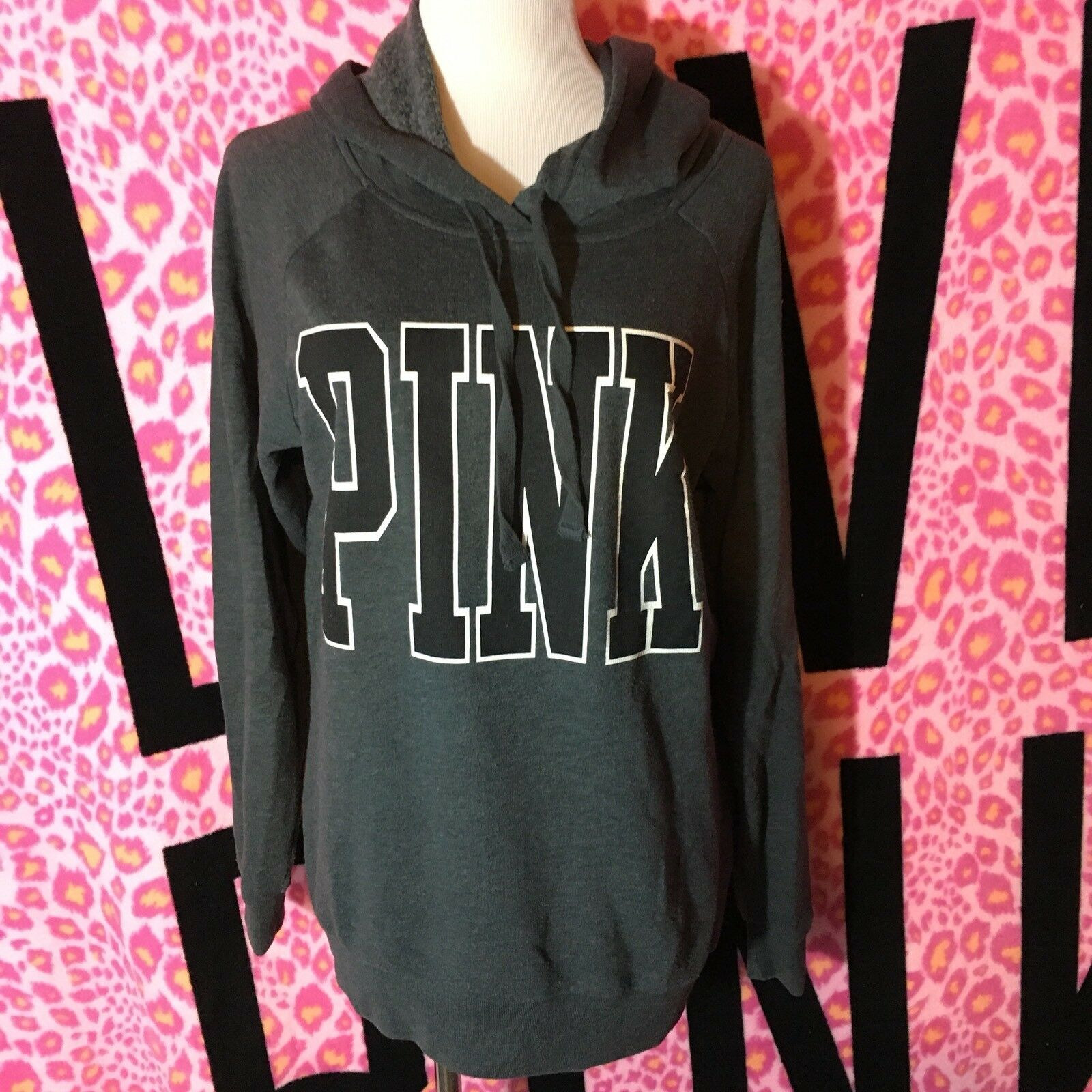 Victoria's Secret PINK RARE Oversized Boyfriend Fit Hoodie Sweatshirt XS