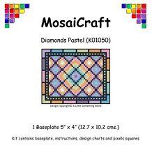 MosaiCraft Pixel Craft Mosaic Art Kit 'Diamonds Pastel' Pixelhobby