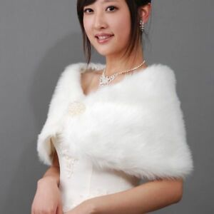 2ff3600ba22cb Women's Fur Shawl Warm Cape Fashion Scarf Long Shoulder Neck Fluffy ...
