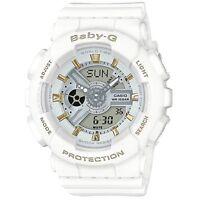 Casio Baby-g Ba110ga-7a1 White Tandem Series Analog Digital Women's Watch