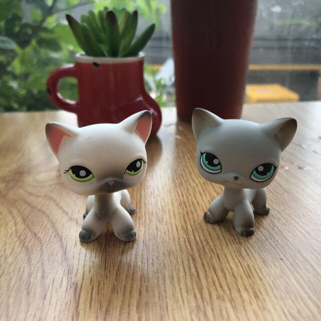 3x Littlest Pet Shop Animals Lps Toy 106 391 2291 Short Hair Cat Figure For Sale Online Ebay