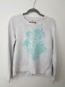 Pure-Good-Crew-Neck-Pullover-Sweater-Botanical-Print-Small