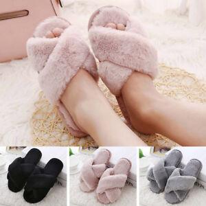 Automne-Hiver-Pantoufles-Femmes-Plat-Fourrure-Doux-Chaud-Indoor-Home-Chaussures-3-Couleurs