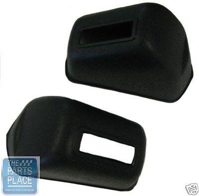 1965-72 GM Cars Seat Belt Lap Belt Anchor Bolt Covers Black 2 Piece Set