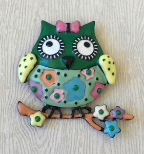 Owl-on-a-tree-Branch-Brooch-Pin-in-enamel-on-metal