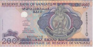 Vanuatu banknote P1a 100 Vatu pfx AA low serial numbers UNC  We Combine