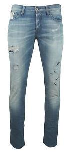 Jack & Jones Herren Jeans Hose JJIGLENN JJROCK slim fit blue denim
