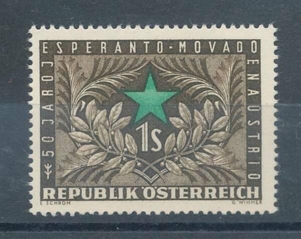 179302) Autriche Nº 1005 ** Congrès Espéranto Magasin En Ligne
