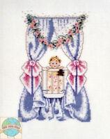 Cross Stitch Chart / Pattern Mirabilia Bedtime Friends Baby & Teddy Bear Mls2