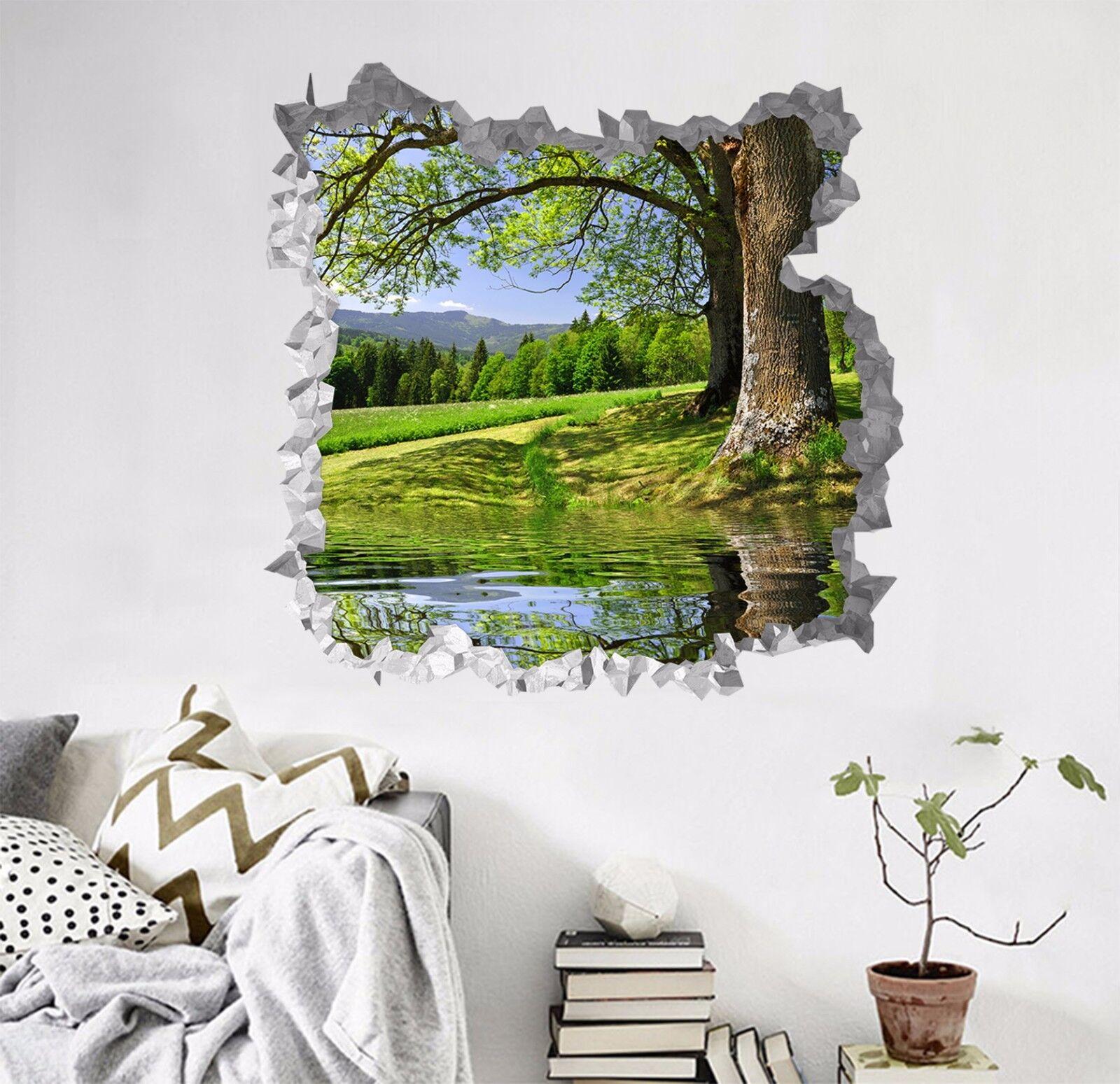3D Falbero Grün Lago 190 Parete Murales Parete Adesivi Decal Sfondamento IT
