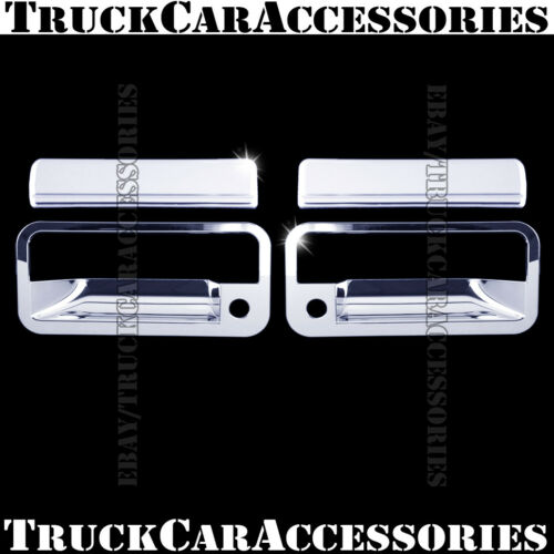 For CHEVY Tahoe 1995 1996 1997 1998 1999 Chrome 2 Doors Handle Covers P Keyhole