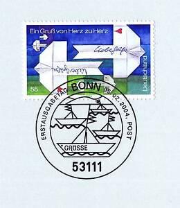 Fougueux Rfa 2004: Post-grußmarke Nº 2387 Avec Le Bonner Ersttags Cachet Spécial! 1a! 1511-stempel! 1a! 1511fr-fr Afficher Le Titre D'origine