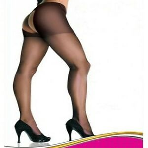 32463079c10f1 5029 - Sexy black nylon open gusset sheer tights womens hoisery One ...