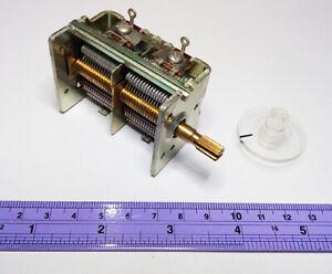 ALPS Variable Capacitor 20-1000pf Crystal Radio Antenna Tuner Ham Radio + Knob