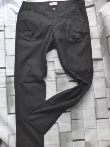 Sheego Pantaloni Tessuto Pantaloni Chino Tg 40-58 dimensioni LONG NERO 657