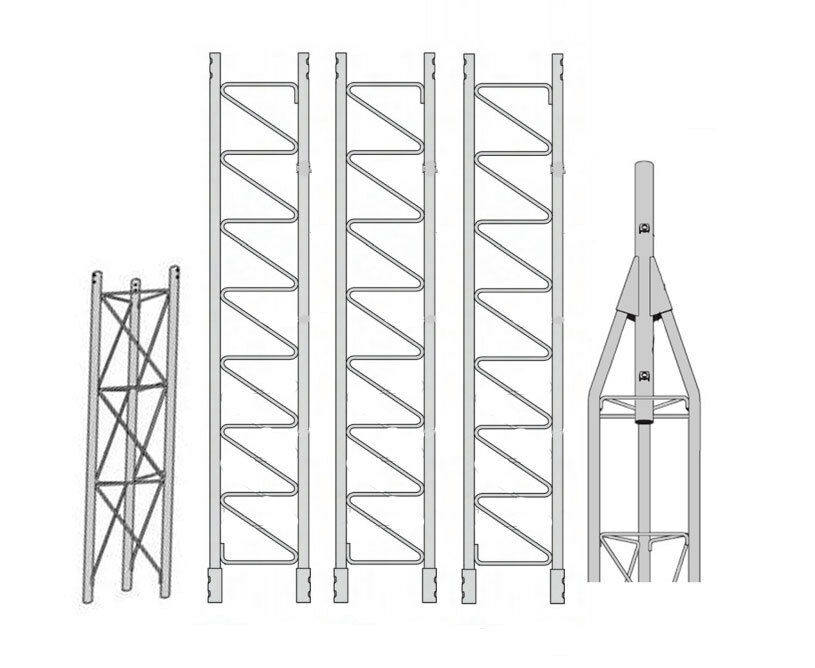 ROHN 45G Series 40' Self Supporting Tower Kit with 45AG Top Section with 2