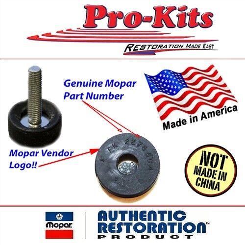 Sold as Pair FITS 66-74 Hood Stop Adjusters
