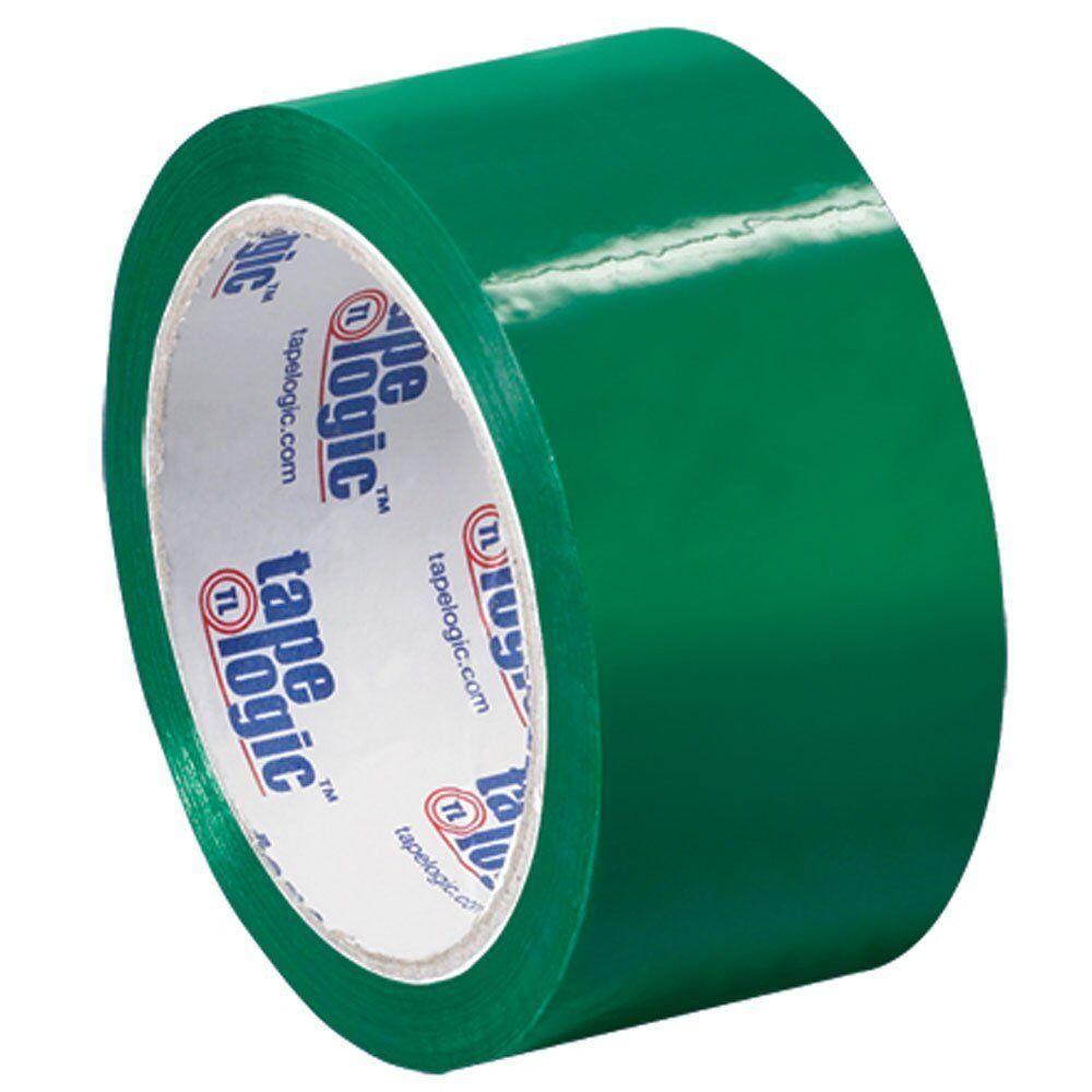 Tape Logic Carton Sealing Tape, 2  x55 yds., Green, 18 Case