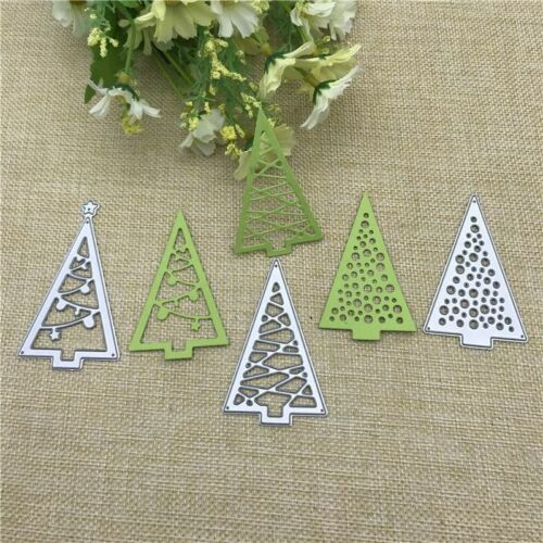 Christmas Tree Cutout Metal Cutting Dies Stencils Die Cut Set Scrapbooking Card