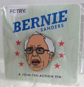 BERNIE SANDERS LAPEL PIN Progressive Feel the Bern 2016 FCTRY