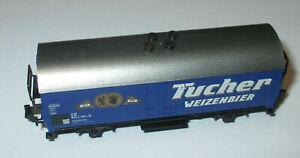 Minitrix-Bierwagen-034-Tucher-Weizenbier-034-2achs-KK-gt-Top