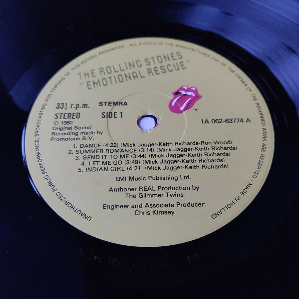 LP, The Rolling Stones, Emotional Rescue