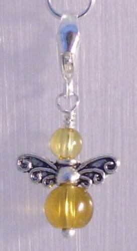 ♥ protección Ángel charm remolque piedras preciosas Citrine turquesa lapis lazuli nephrit ♥