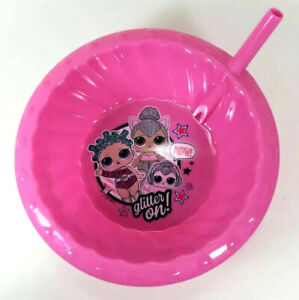 Disney Vampirina Cereal Soup Bowl With Built In Straw 14.5oz Pink New New Zak