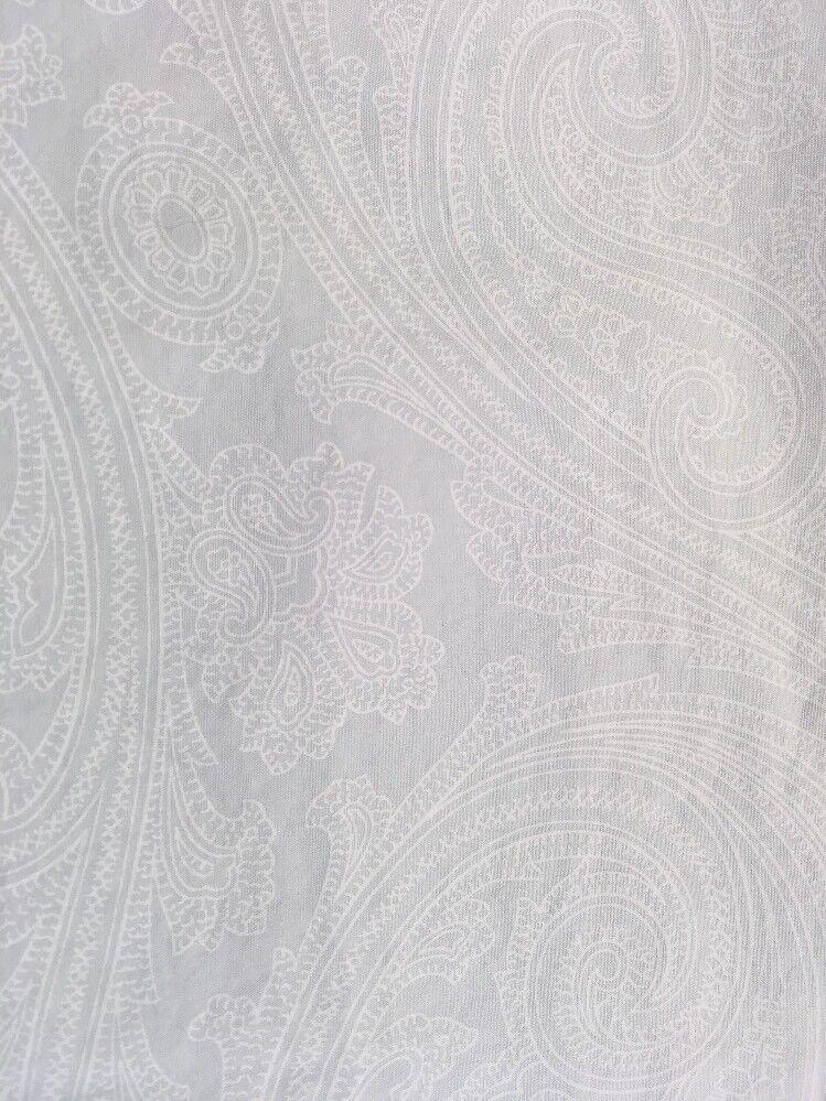 Ralph Lauren King Set  bluee White Paisley Cotton 4 Pieces Mint