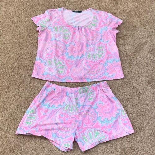 Lauren Ralph Lauren Size XL Two piece Pink printed