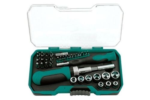 SOCKET DRIVER BIT SET IN STORAGE CASE 41 PIECES 56070 KAMASA TOOLS GIFT IDEAS