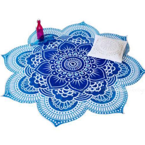 3D Hippie Mandala Tapestry Bedspread Beach Throw Lotus Yoga Mat Rugs Picnic Mats