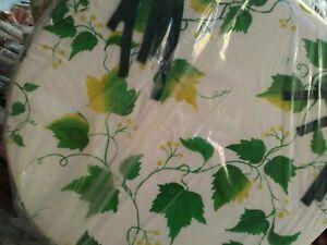 Dettagli su cuscini per sedie Rotondi fondo bianco disegno edera in verde
