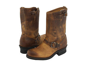 FRYE-Womens-Engineer-12R-Pull-On-Mid-Calf-Boots-Dark-Brown-Leather-3477400-DBN