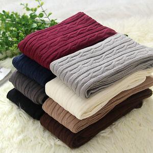 Women-Over-Knee-Wool-Knit-Long-Socks-Winter-Thigh-Highs-Warm-Socks-Stocking