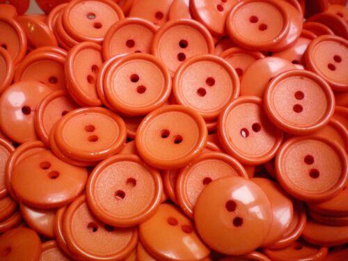19mm 30L Naranja Brillante Niños 2 Agujero Botones Botón Botones Artesanía Costura J32