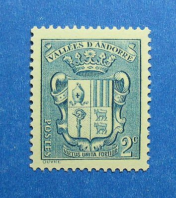 Europe Stamps Trend Mark 1936 Andorra French 2c Scott# 66 Michel # 50 Unused Nh Cs26568 High Standard In Quality And Hygiene