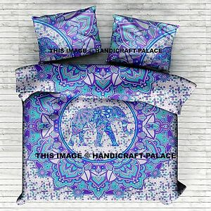 Queen Indian Wall Hanging Hippie Mandala Tapestry Bohemian Blue Bed Sheet Throw