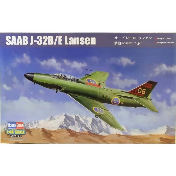Hobbyboss 81752 1 48th scale SAAB J-32B E Lansen