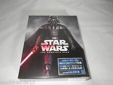 Star Wars The Complete Saga Blu-ray 9-Disc Boxed Set Episodes I-VI 1-6 Japan Ver