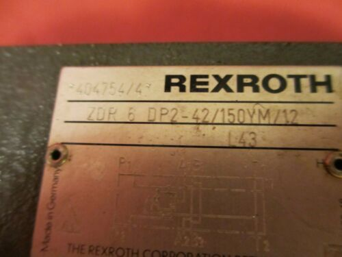 ZDR6DP242150YM//12 Rexroth ZDR 6 DP2-42//150YM//12 Pressure Relief Valve